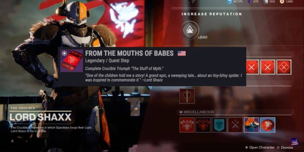 """Collect The """"From the Mouth of Babes"""" Quest"""