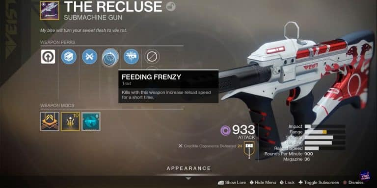 How To Get The Recluse in Destiny 2?