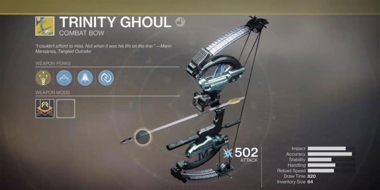 How To Get Trinity Ghoul In Destiny 2?