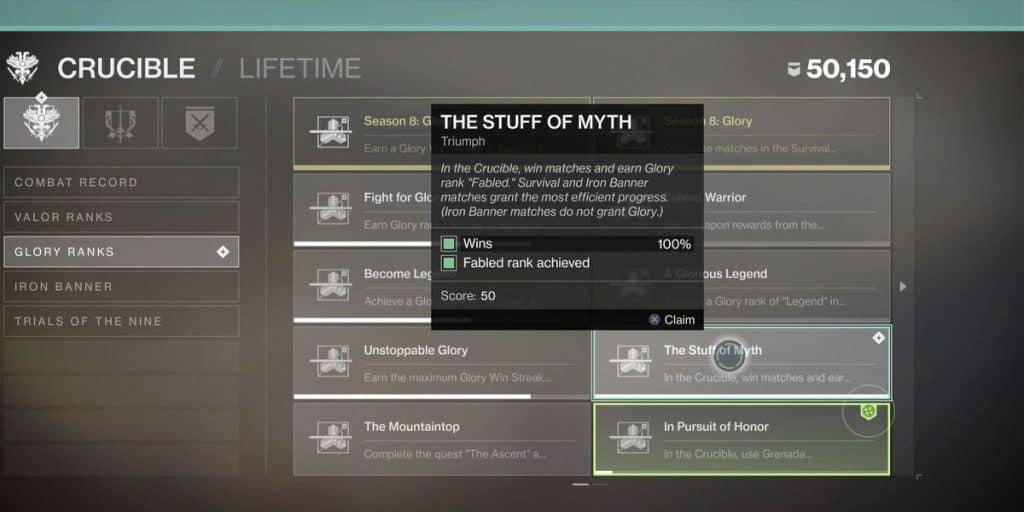 "The ""Stuff Of Myth"" Triumph"