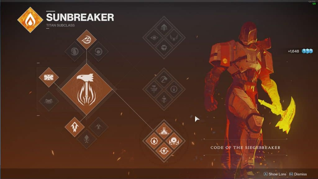 Code Of The Siegebreaker ( Bottom Tree Sunbreaker )