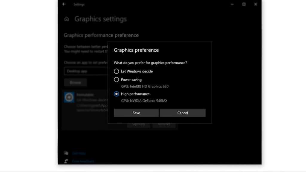 Dedicated GPU