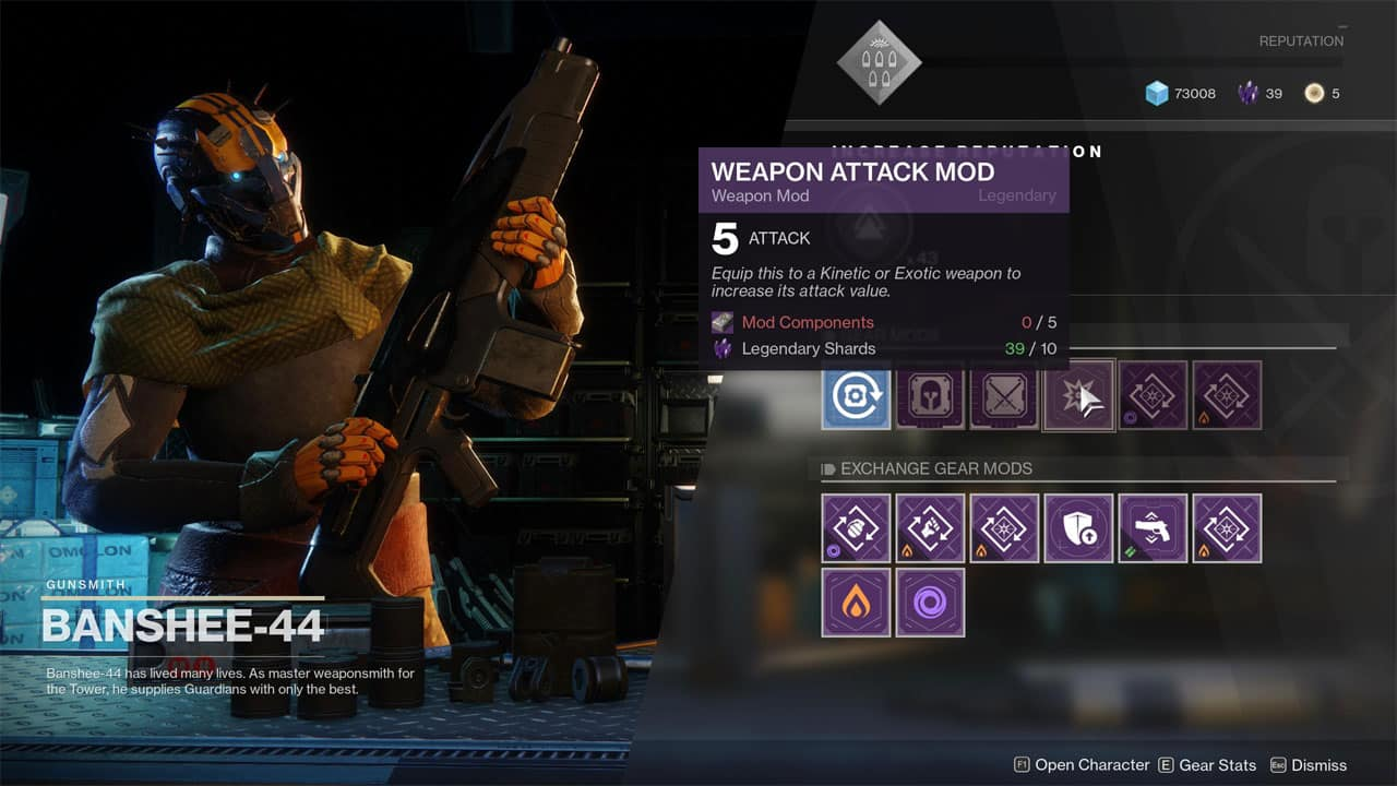Destiny 2 How To Get Kinetic Weapon Mods