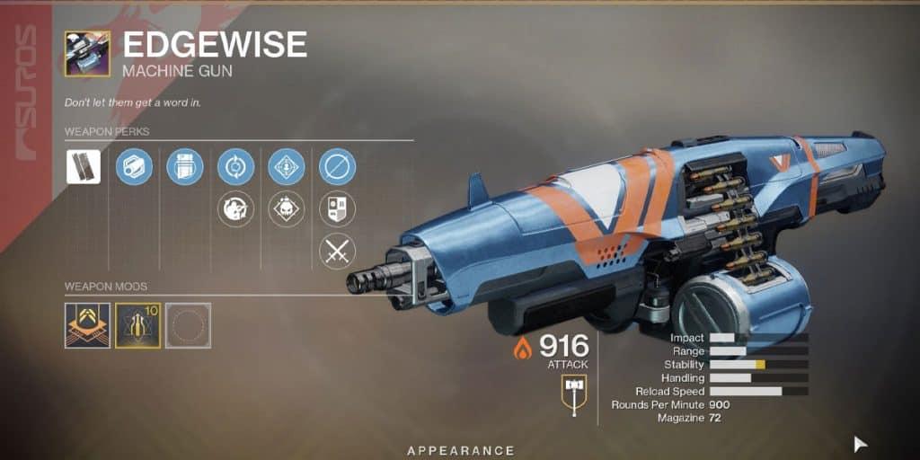 Edgewise Machine Gun