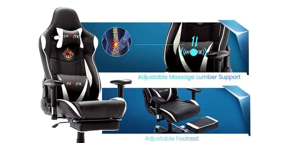 Ficmax Massage Gaming Chair Design Review