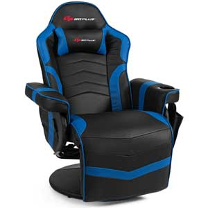 Goplus Massage Racing Style game chair with cup holder