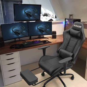 Homall Ergonomic Gaming Chair with Footrest
