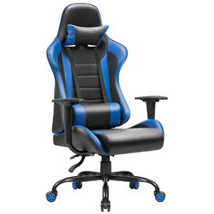 Jummico PU Leather Racing Style Gaming Chair