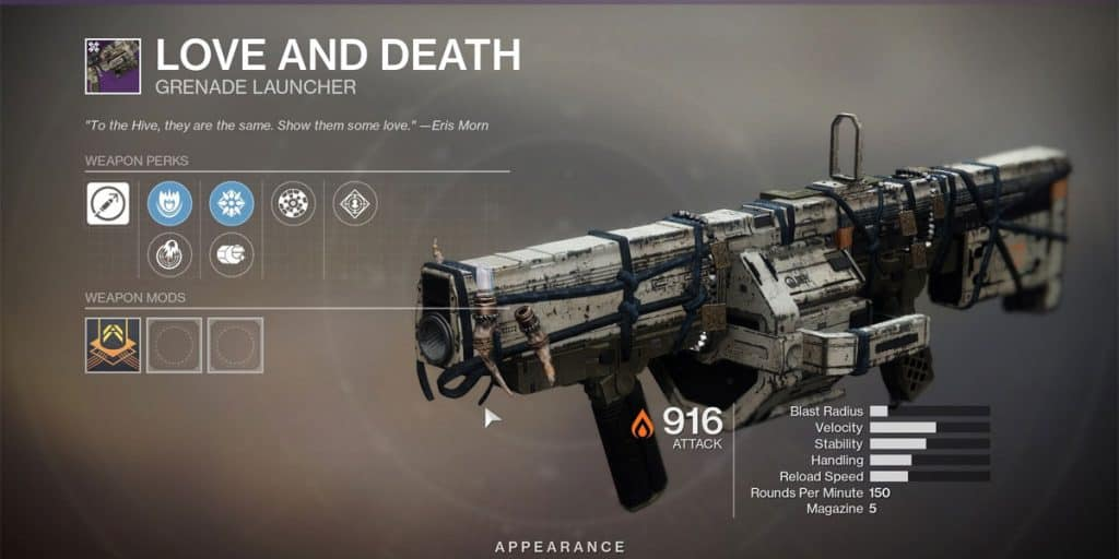 Love And Death Grenade Launcher