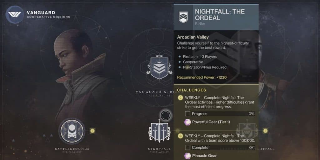 Nightfall Weapon Rotation Schedule