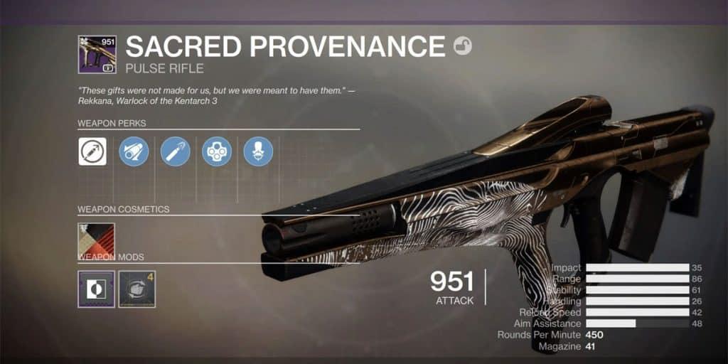Sacred Provenance Pulse Rifle