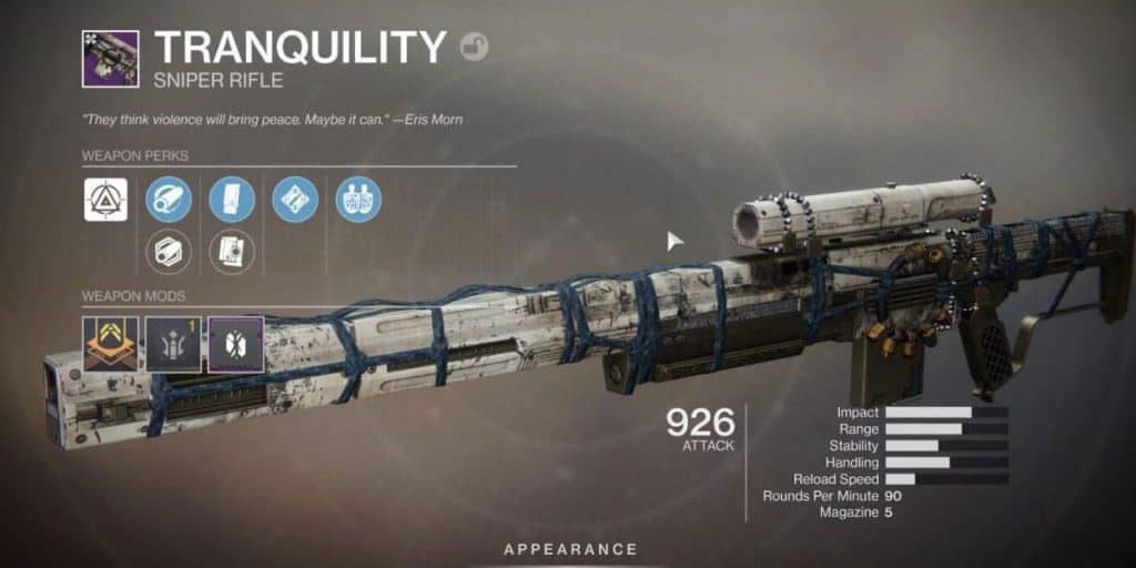 Tranquility Sniper Rifle