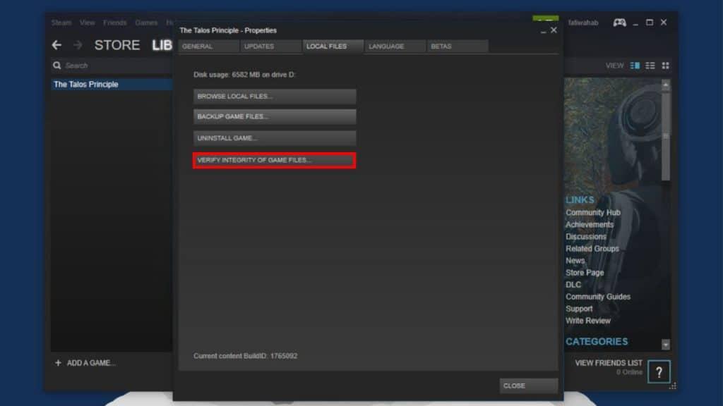 Verify Game Files