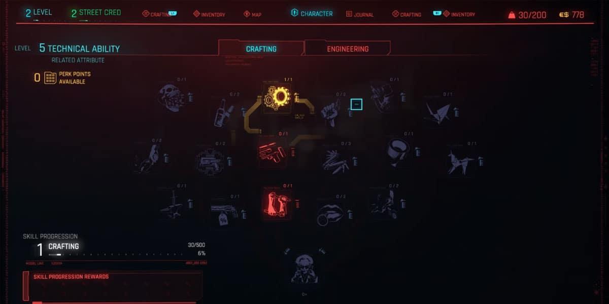 Cyberpunk 2077 Crafting Guide