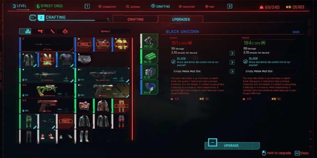 Cyberware Upgrades in Cyberpunk 2077