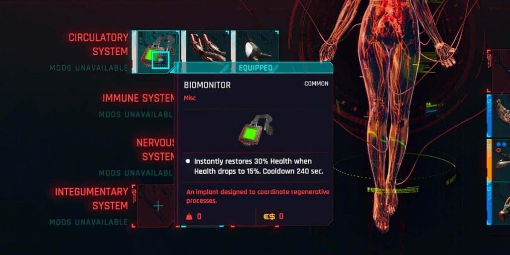 BioMonitor cyberpunk 2077