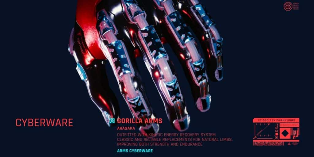 Gorilla Arms Cyberpunk 2077