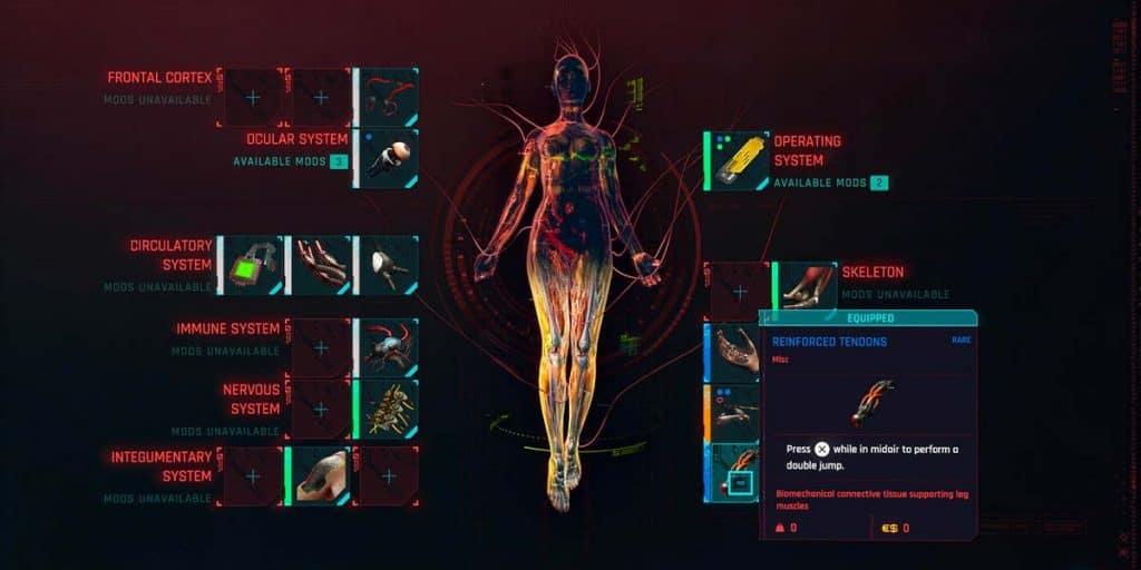 Reinforced Tendons cyberpunk 2077