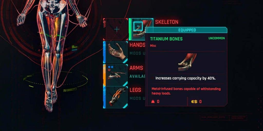 Titanium Bones cyberpunk 2077